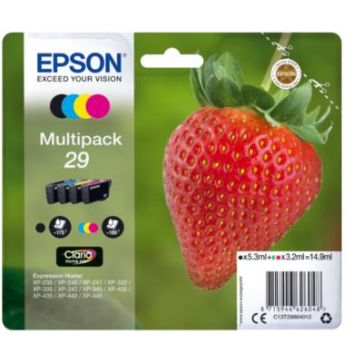 Epson  29 Original Druckerpatronen Multipack Schwarz Cyan Gelb Magenta T2986 | 8715946626048