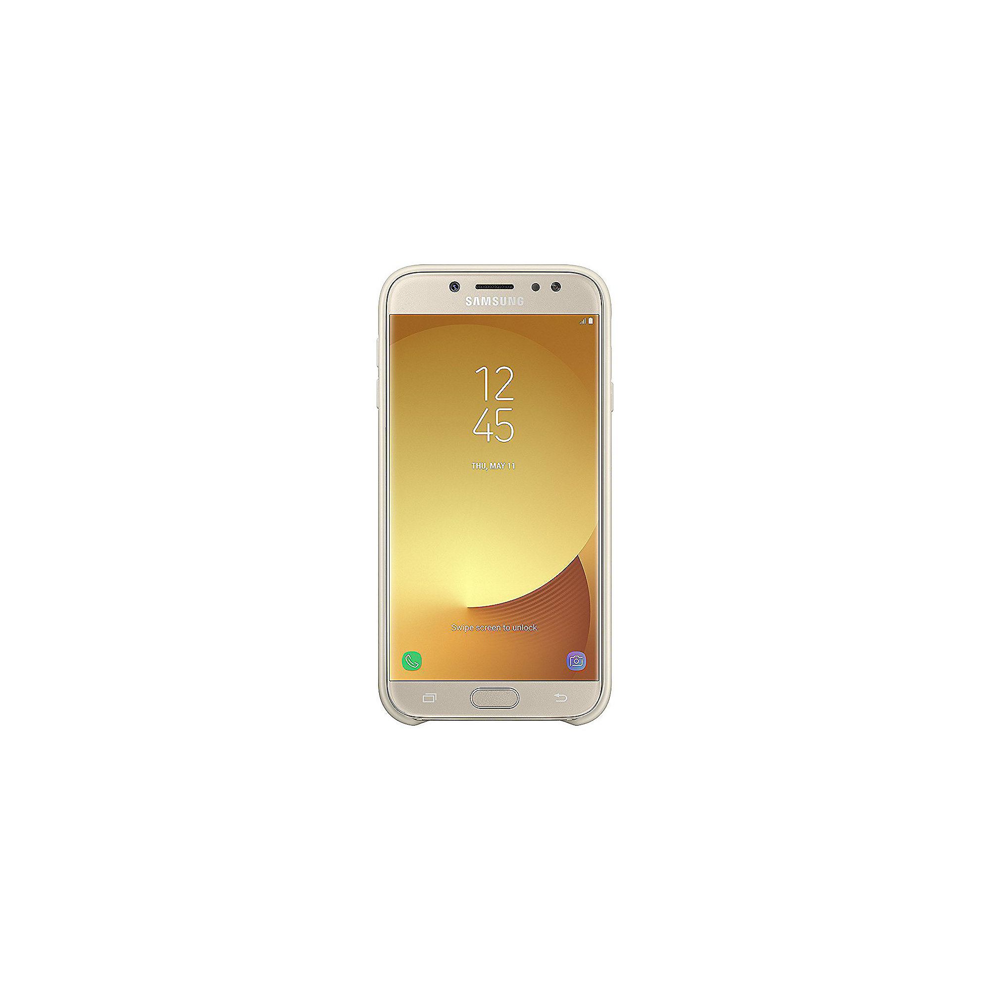 Samsung EF-PJ730 Dual Layer Cover für Galaxy J7 (2017) gold