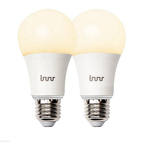 Innr smarte LED Lampe 9W (60W) E27 matt warmweiß dimmbar (2er Pack ...
