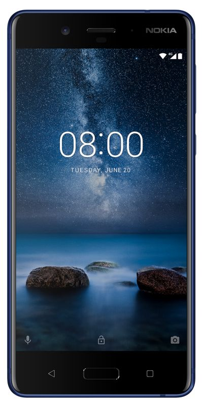 Nokia 8 64GB tempered blue Android 7.1 Smartphone