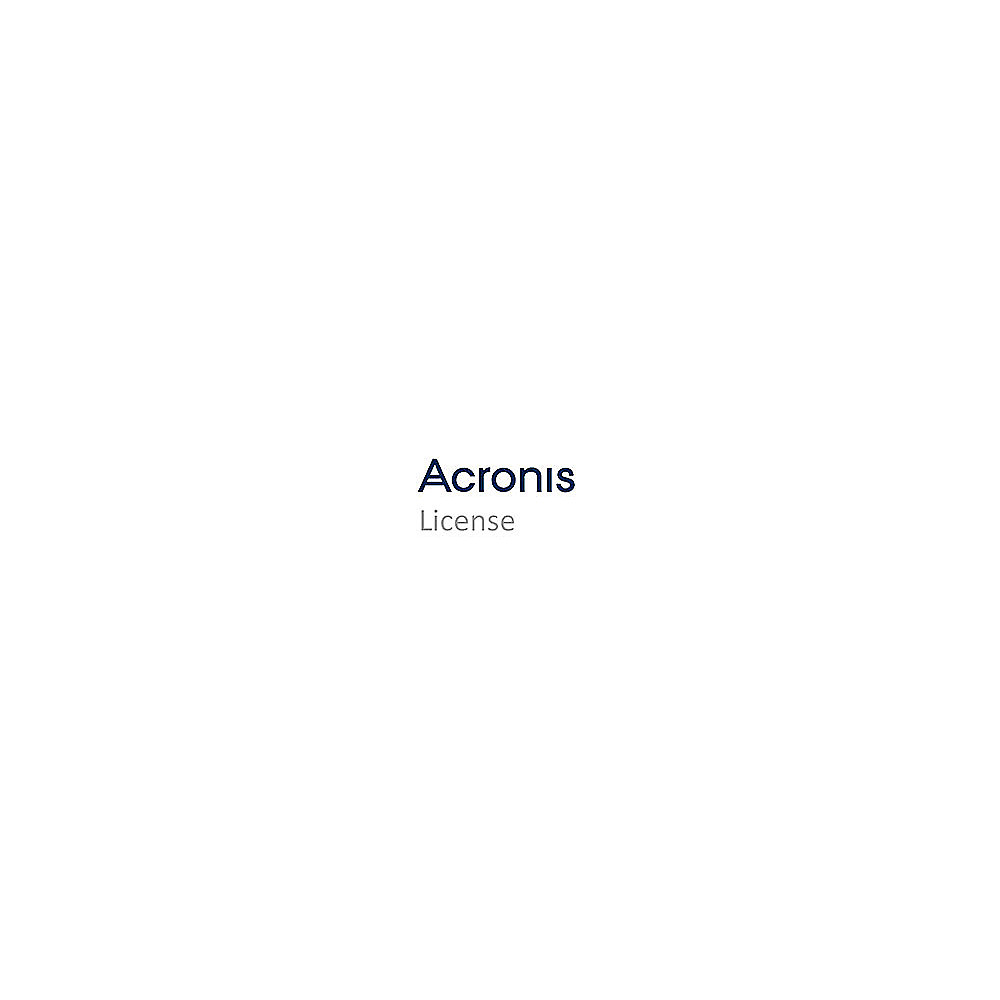 Acronis Backup Standard for Server 12.x, Lizenz + MNT APS 1 Jahr