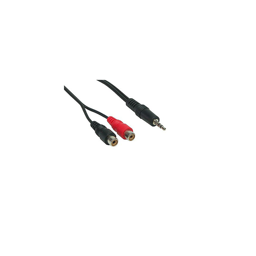 Good Connections Kabel Cinch Stecker - Klinke Stecker stereo schwarz 0,2m