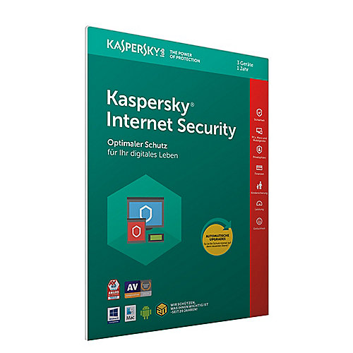 Kaspersky Internet Security 3 Geräte (Code in a Box) FFP