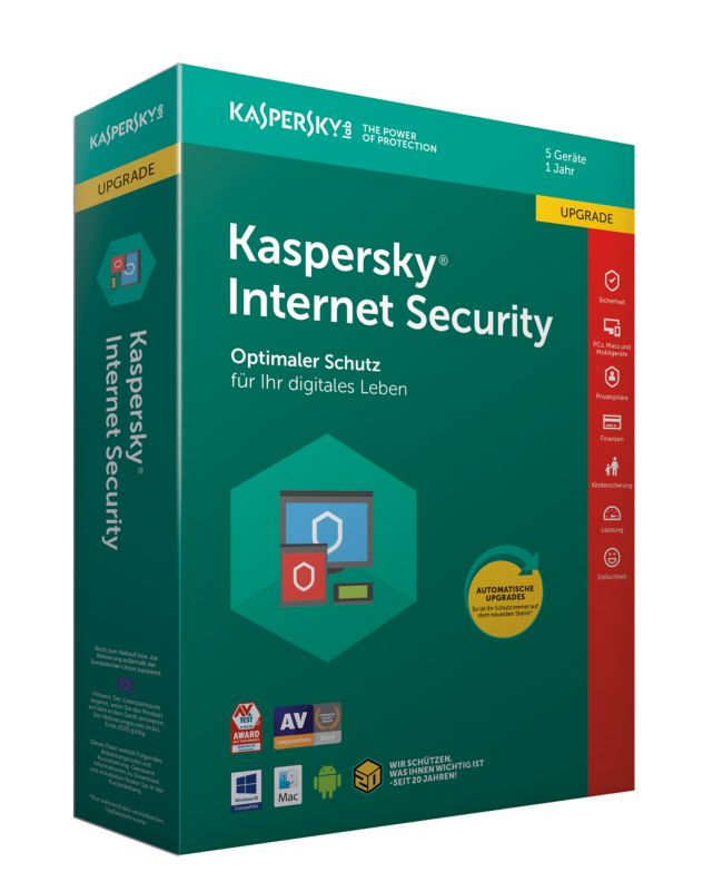 Kaspersky Internet Security 5 Geräte Upgrade (Code in a Box) MiniBox