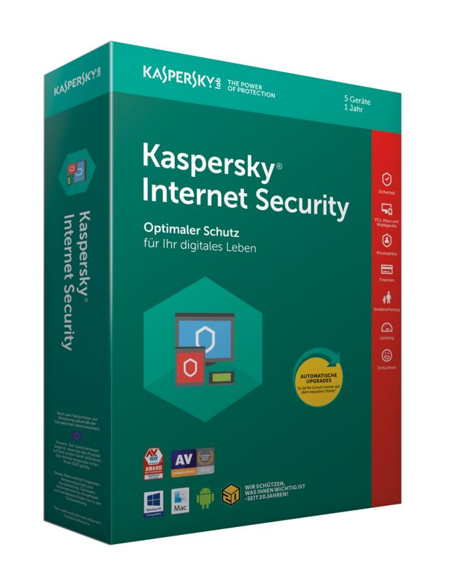 Kaspersky Internet Security 5 Geräte (Code in a Box) MiniBox