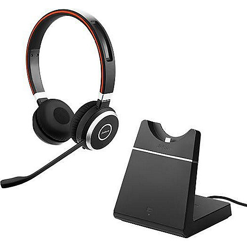 Jabra Evolve 65 UC Stereo Headset inkl. Ladestation