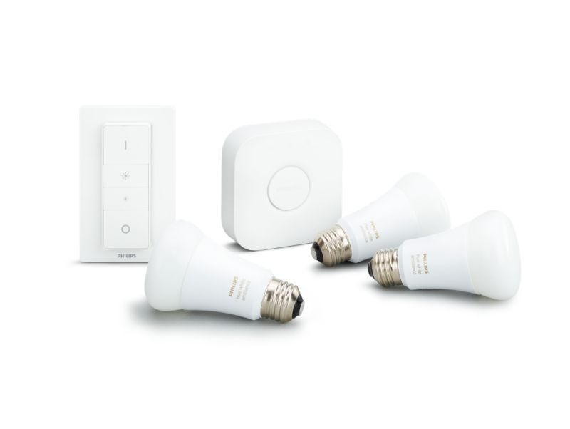 Philips Hue White Ambiance LED E27 3er Starter Set 9,5W inkl. Bridge & Dimmsch.