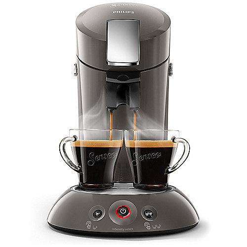 Senseo Original HD6556/00 Padmaschine mit Kaffee-Boost dunkelgrau metall