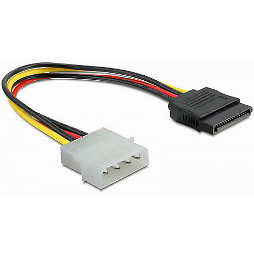 DeLOCK Serial ATA HDD / 4pin Stecker gerade Adapterkabel 12cm 60100
