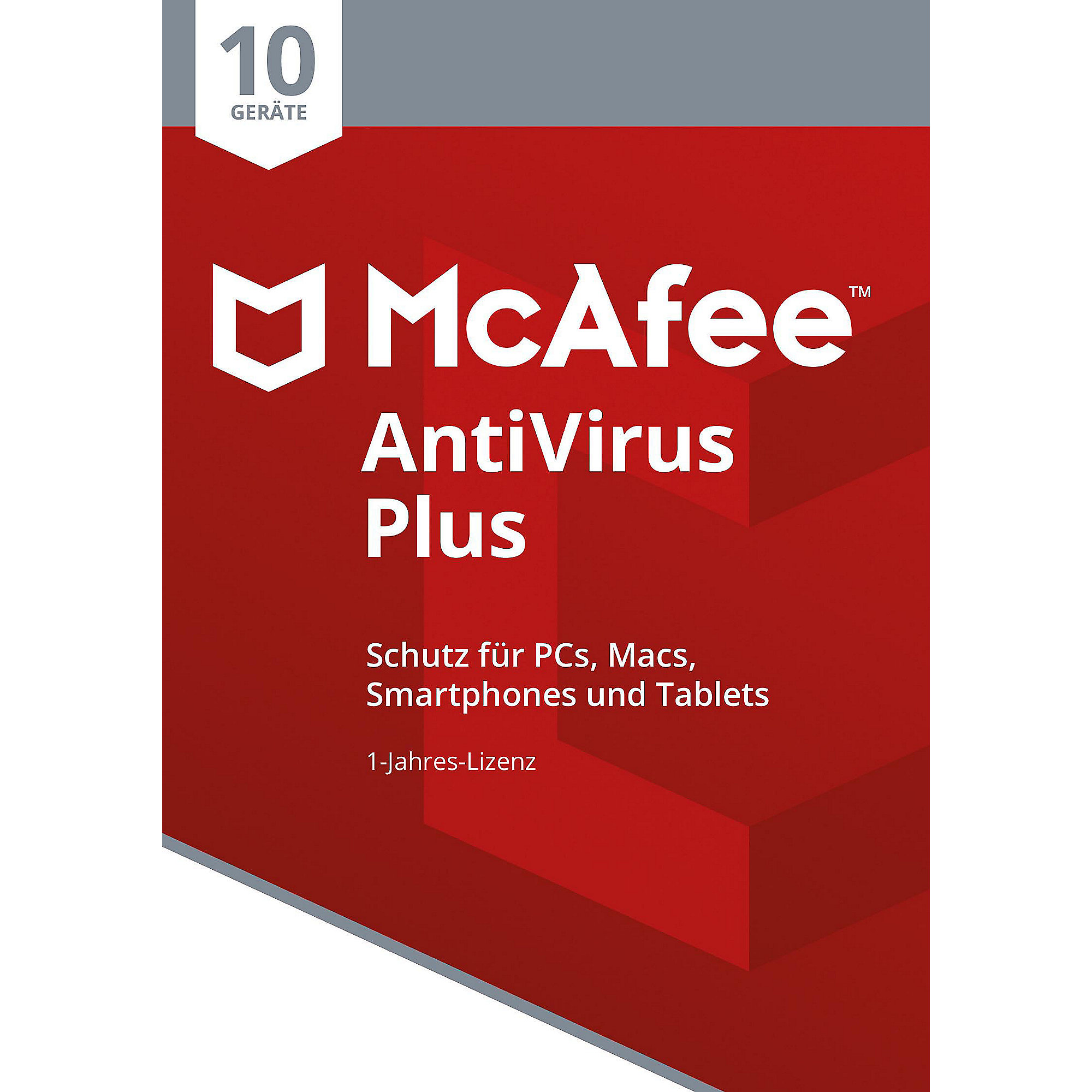 McAfee AntiVirus Plus 10 Device (Code in a Box)