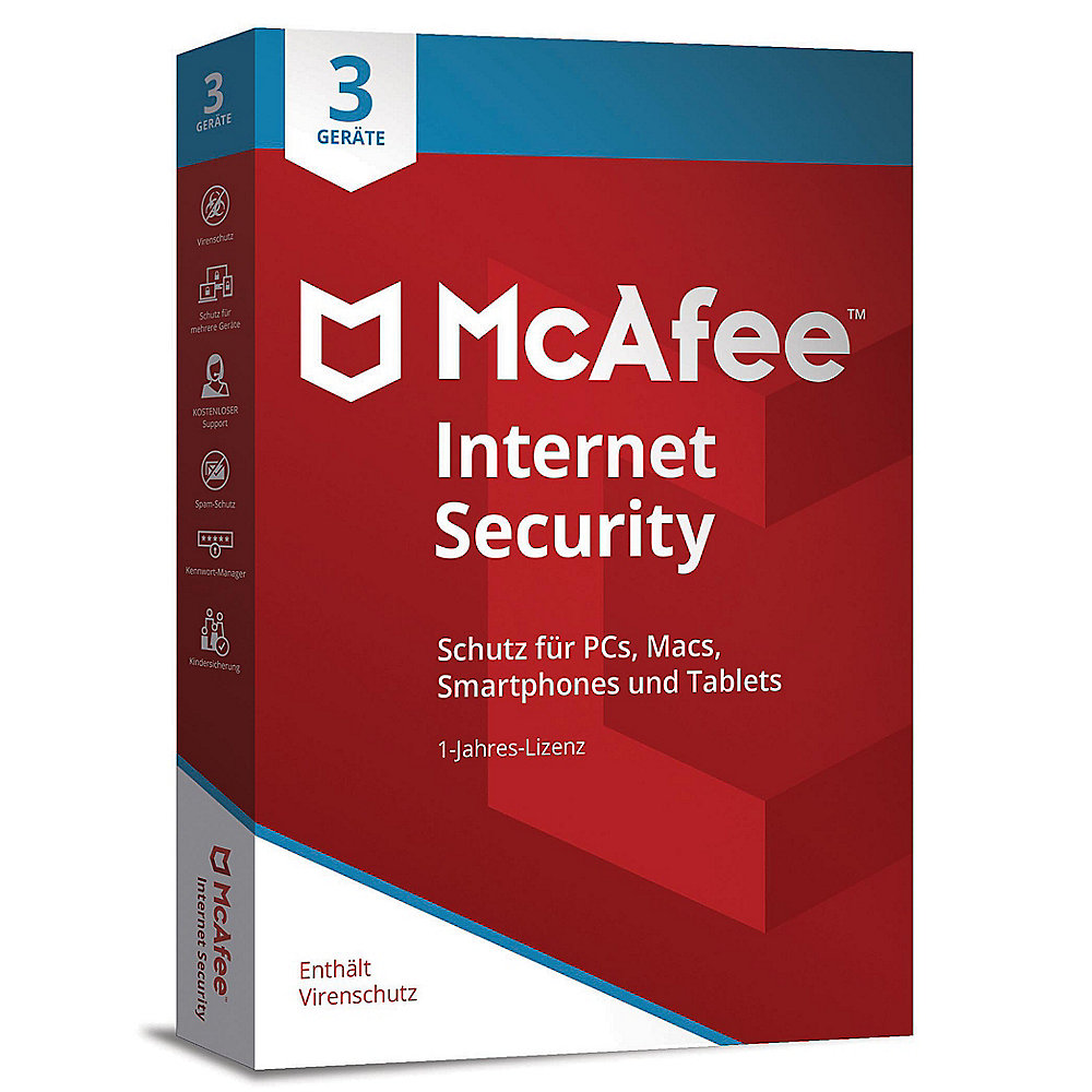 McAfee Internet Security 3 Device (Code in a Box)