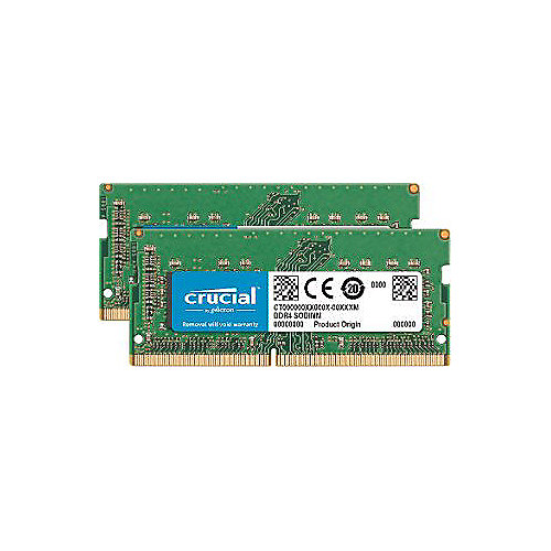 16GB (2x8GB) Crucial DDR4-2400 CL17 PC4-19200 SO-DIMM für iMac 27 2017″   0649528783318