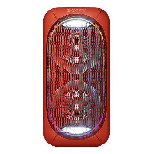 Sony GTK-XB60 Bluetooth-Lautsprecher (NFC, Akku) rot Leuchteffekt Party-Chain | 4548736059962