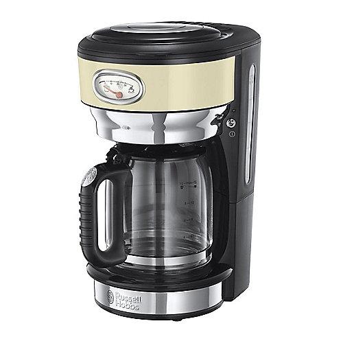 Russell Hobbs 21702-56 Retro Vintage Cream Glas-Kaffeemaschine | 4008496874729