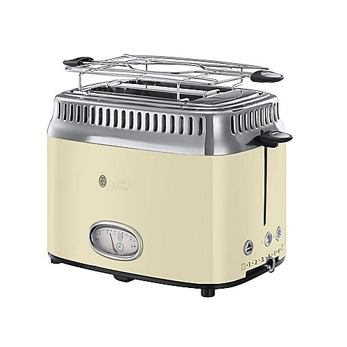 Russell Hobbs 21682-56 Retro Vintage Cream Toaster | 4008496874675