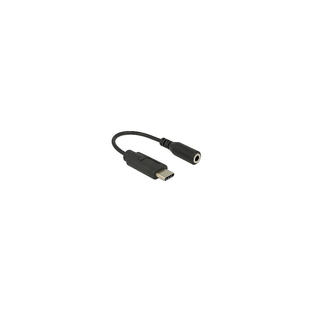 DeLOCK Audio Adapter 0,14m USB Type-C St. zu Klinke Bu. schwarz ++ ...