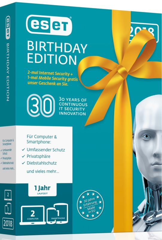ESET Birthday Edition (2x ESET Internet Sec.+ 1x ESET Mobile Sec.) MiniBox