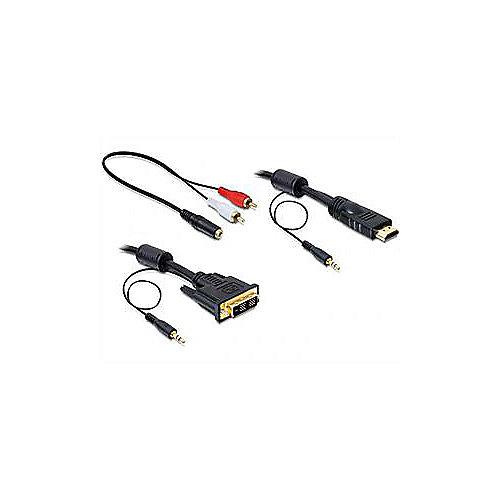 DeLOCK Kabel 2m DVI zu HDMI + Sound St./St. schwarz