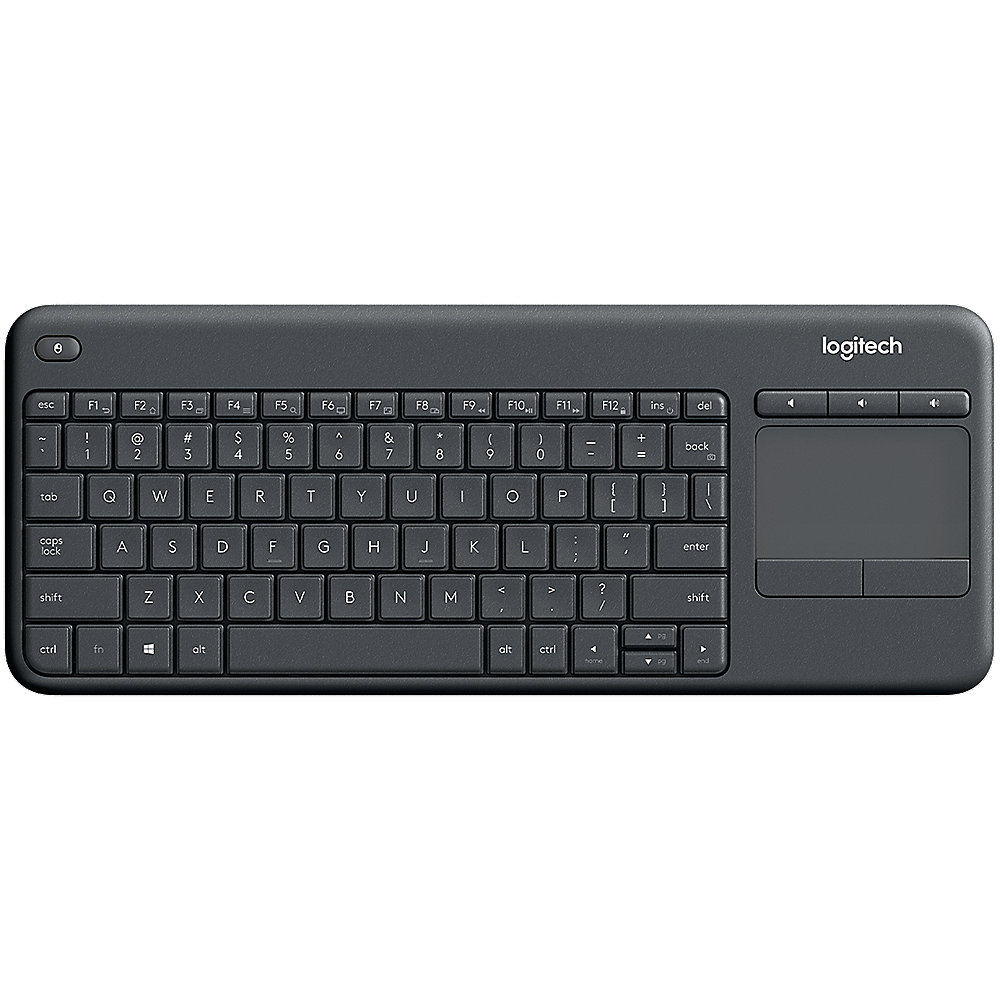 logitech k400 professional kabellose tastatur mit touchpad. Black Bedroom Furniture Sets. Home Design Ideas