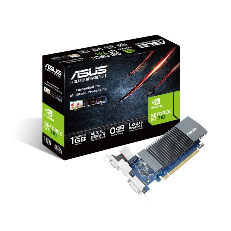 Asus GeForce GT 710-SL-1GD5 1GB PCIe DVI/HDMI/VGA passiv low profile