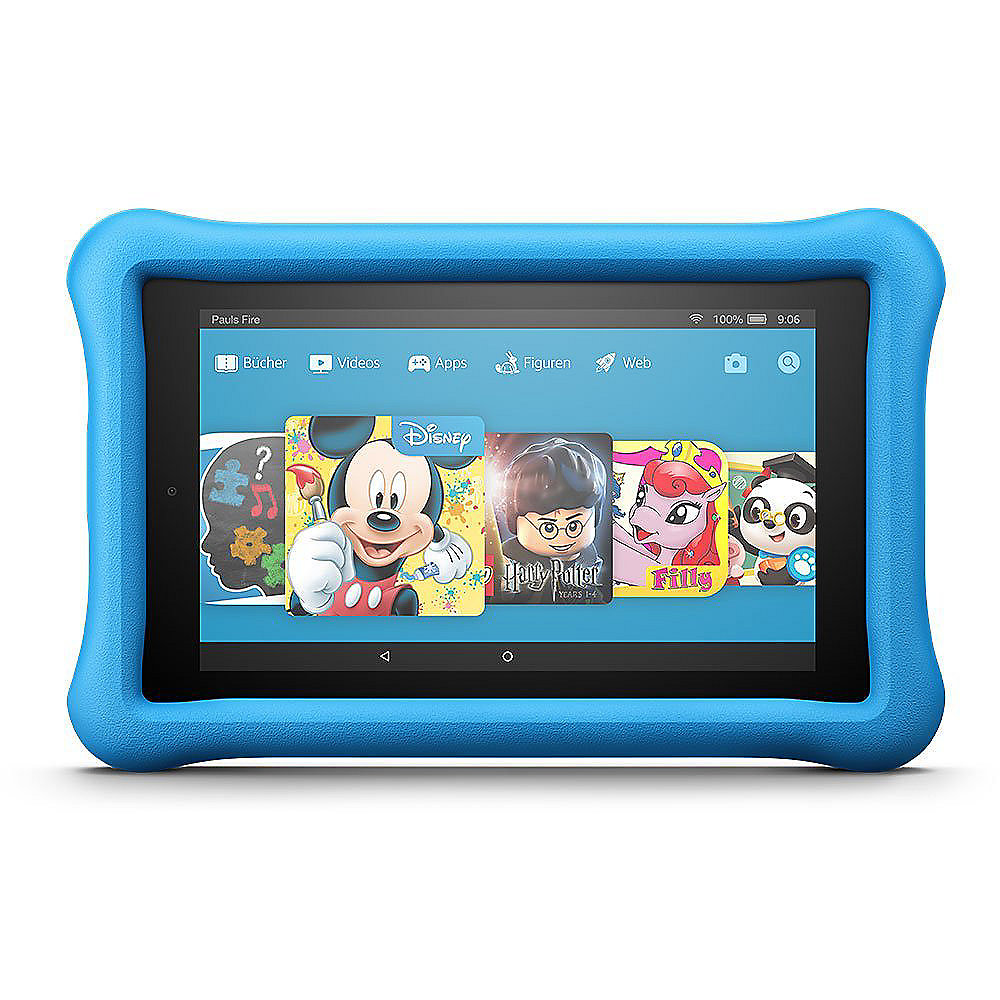 Amazon Fire 7 Kids Editon Tablet WiFi 16 GB Kid-Proof Case blau