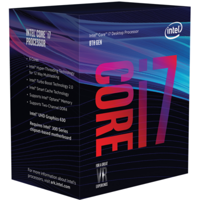 Intel  Core i7-8700K 6×3,7(Boost 4,7) GHz 12MB-L3 Cache Sockel 1151 (Coffee Lake) | 5032037108652