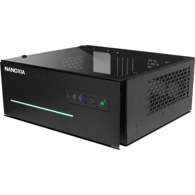 Nanoxia  Project S Midi HTPC Gehäuse  schwarz mit Fenster   4260285296673