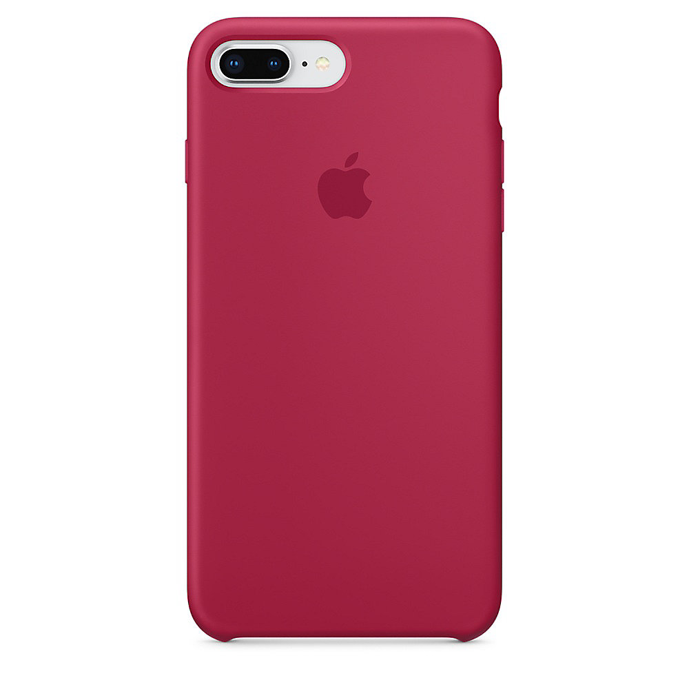 Apple Original iPhone 8 Plus Silikon Case-Rosenrot