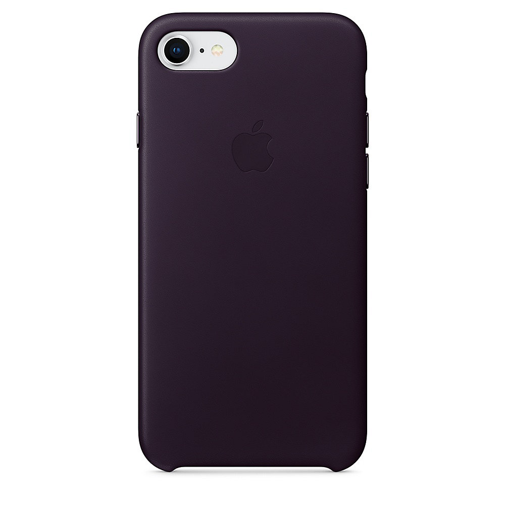 Apple Original iPhone 8 / 7 Leder Case-Dunkelaubergine