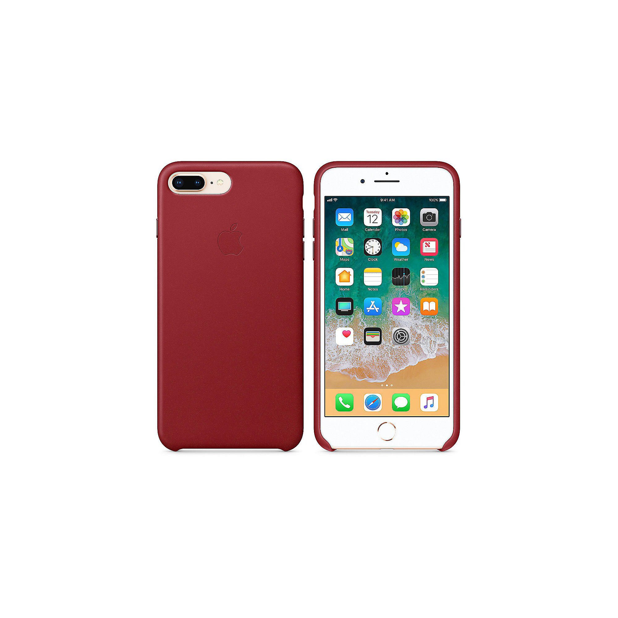 Apple Original iPhone 8 / 7 Plus Leder Case-(PRODUCT)RED