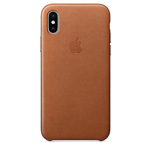Apple Original iPhone X Leder Case-Sattelbraun