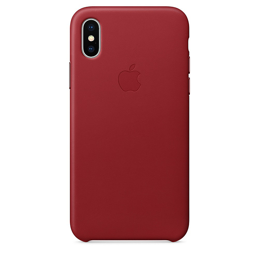 Apple Original iPhone X Leder Case-(PRODUCT)RED