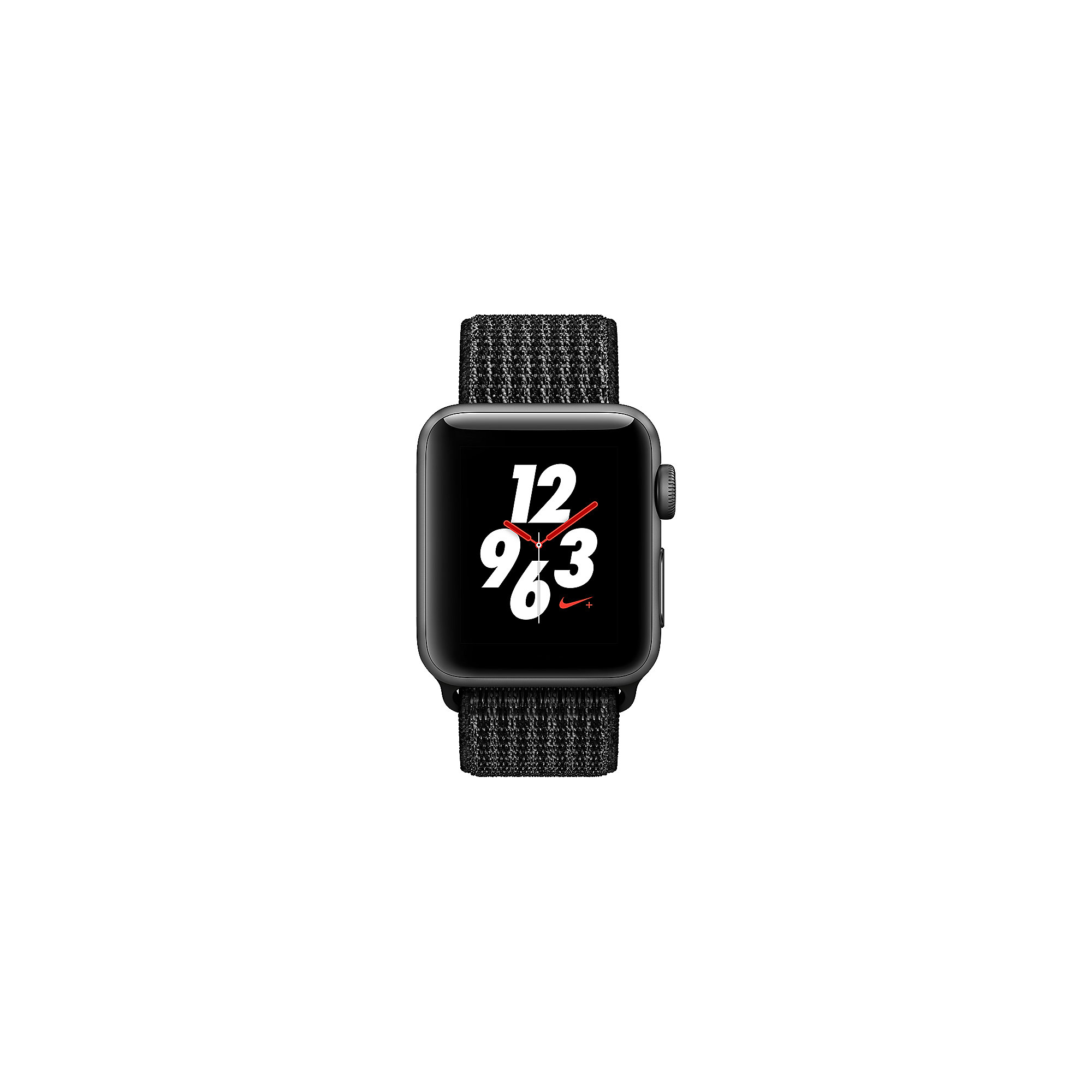 Apple Watch Nike+ LTE 38mm Aluminiumgehäuse Space Grau Nike Sport Loop Schwarz