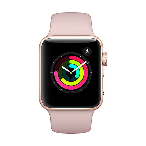 Apple Watch Series 3 GPS 38mm Aluminiumgehäuse Gold Sportarmband Sandrosa