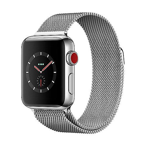 Apple Watch Series 3 LTE 38mm Edelstahlgehäuse mit Milanaisearmband