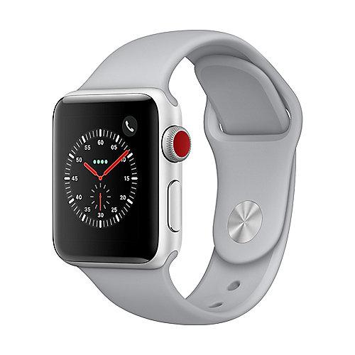 Apple Watch Series 3 LTE 38mm Aluminiumgehäuse Silber mit Sportarmband Nebel