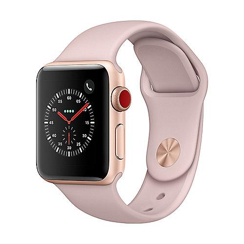 Apple Watch Series 3 LTE 38mm Aluminiumgehäuse Gold Sportarmband Sandrosa