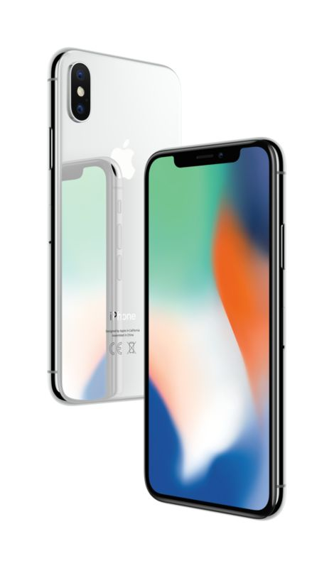 Apple iPhone X 64 GB Silber MQAD2ZD/A