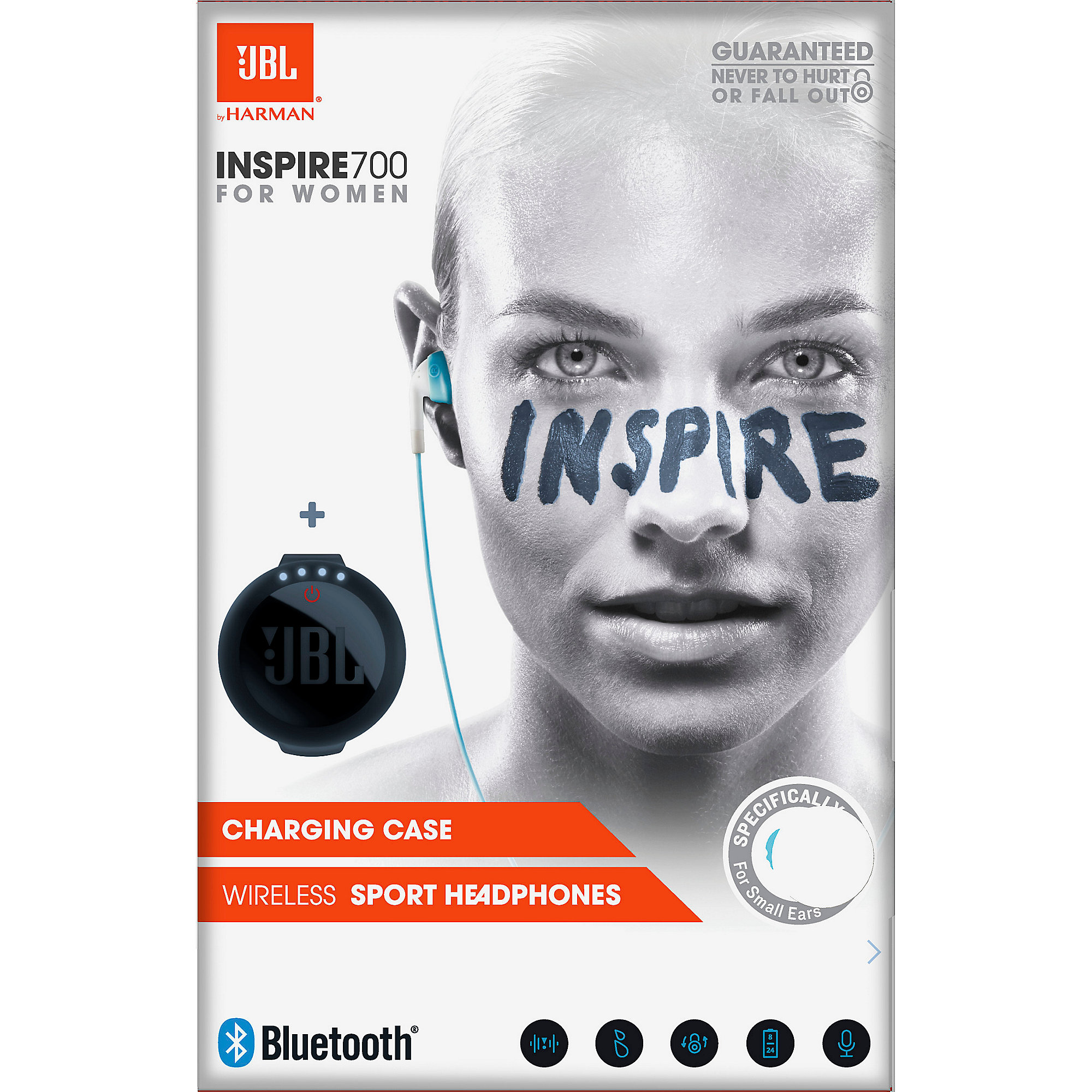 JBL Inspire 700 Women In Ear - Bluetooth Sport Kopfhörer türkis/weiß Ladebox
