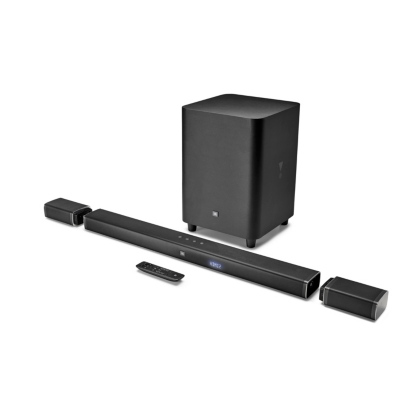 JBL  5.1 Soundbar 4K UHD mit kabellosem Subwoofer abnehmbaren Satelliten Schwarz   6925281927485