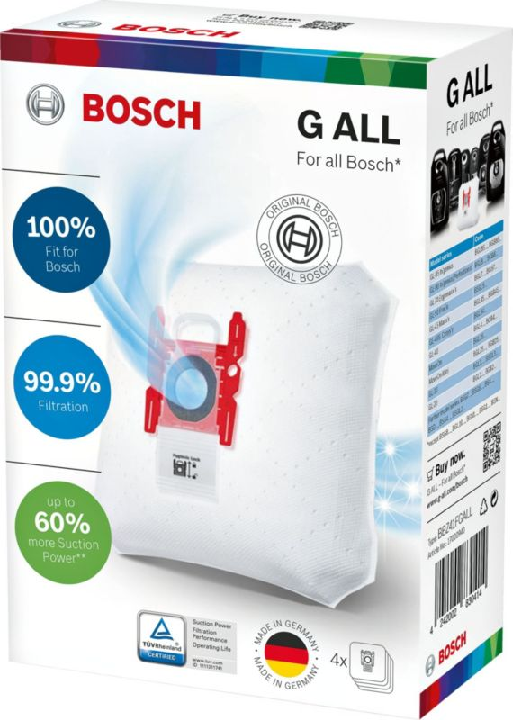 Bosch PowerProtect Typ G ALL Staubsaugerbeutel + Filter (4+1)