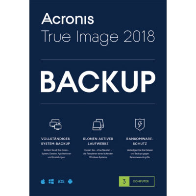 Acronis  True Image 2018 3 PC MiniBox   4260019575463
