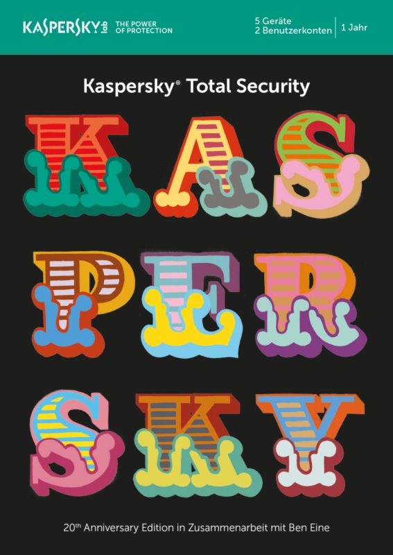 Kaspersky Total Security 5 Geräte (Code in a Box) MiniBox - 20 Jahre Edition