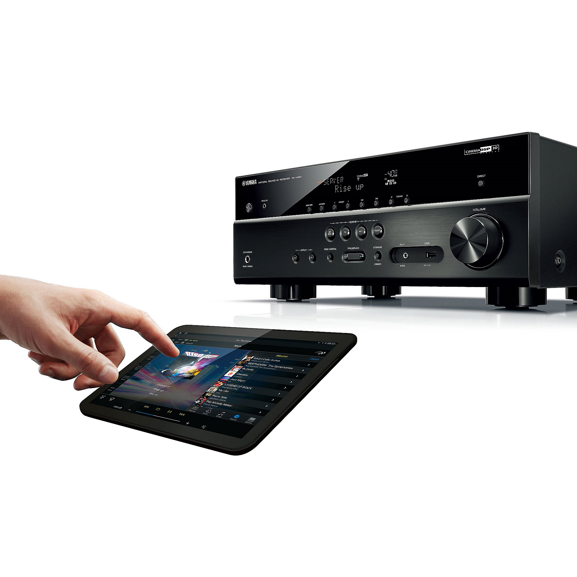 Yamaha MusicCast RX-V483 5.1 AV-Receiver 4K Bluetooth DLNA AirPlay WiFi schwarz