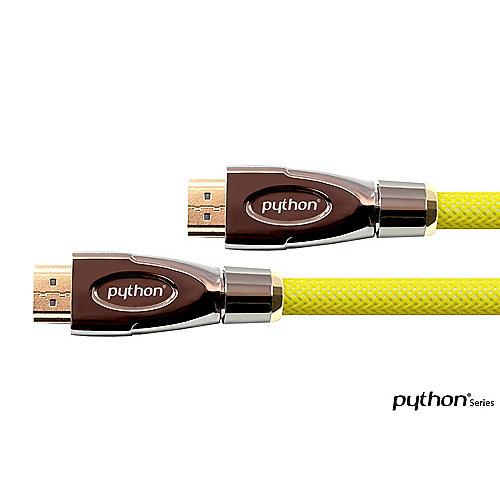 Good Connections PYTHON HDMI Kabel Ethernet 4K*2K aktiv gelb 10m