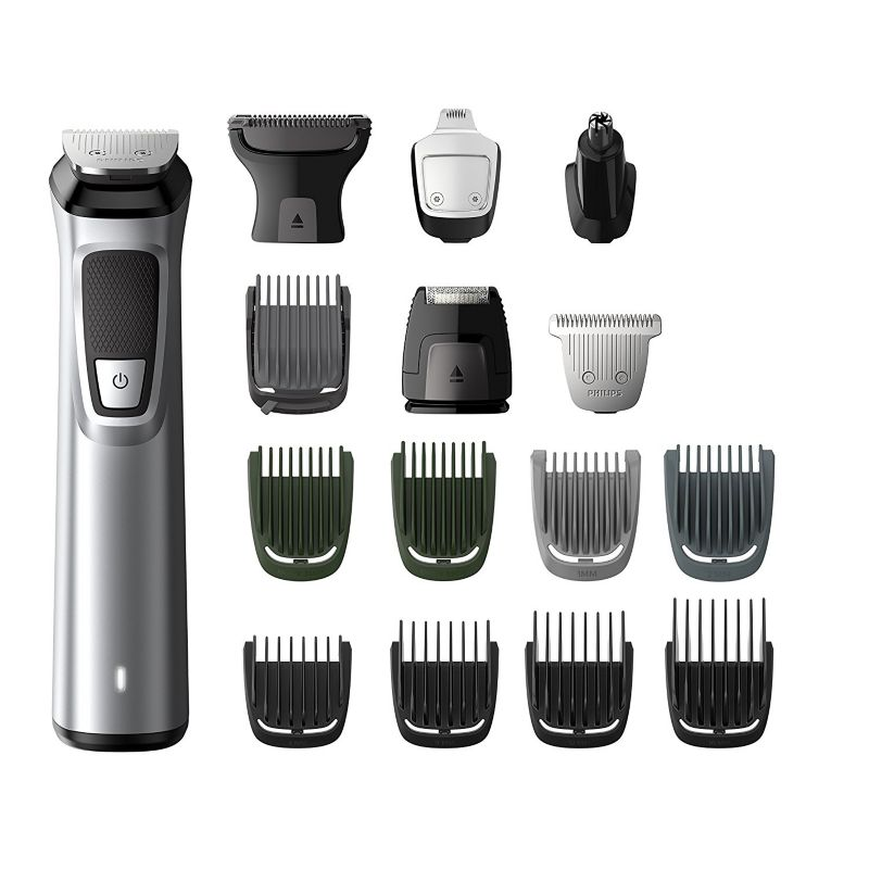 Philips MG7730/15 Multigroom Series 7000 Bartstyler-Set silber/schwarz