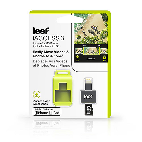 Leef iAccess 3 mobile iOS microSD Card Reader