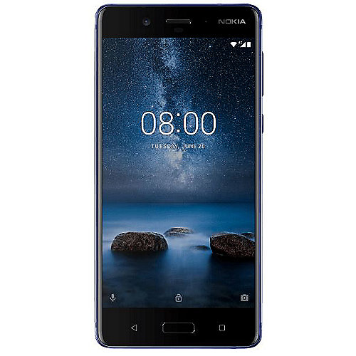 Nokia 8 glossy blue 128 GB Android 7.1 Smartphone