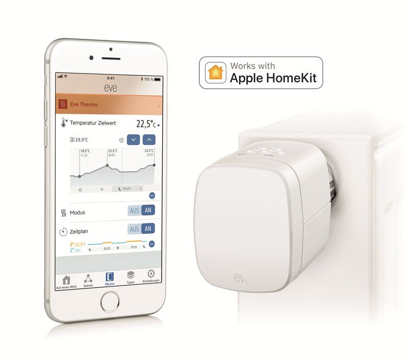 Elgato Eve Thermo (2017) Heizkörperthermostat für Apple HomeKit