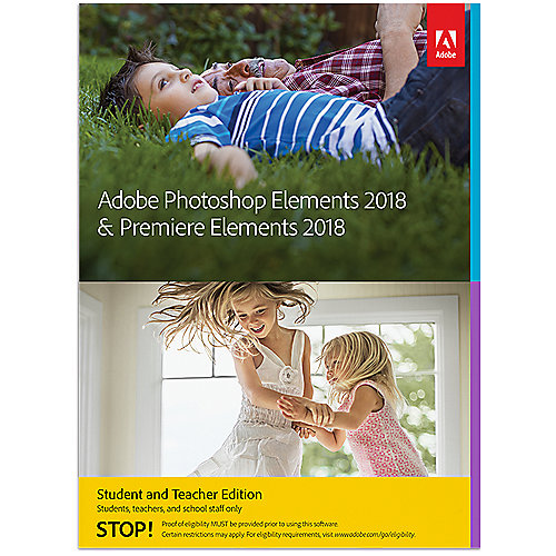 Adobe Photoshop Elements & Premiere Elements S&T 2018 MiniBox FRA, français